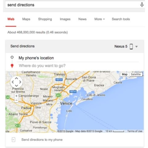 Now send notes, directions to your phone via Google Search Send Google Maps Directions To Phone on google maps map, google maps thumbnail, google maps zoom in, google maps menu, google maps green pin, google maps overview,
