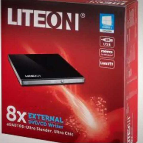 Lite-On eUAU108 external CD-DVD drive launched for Rs. 2,700