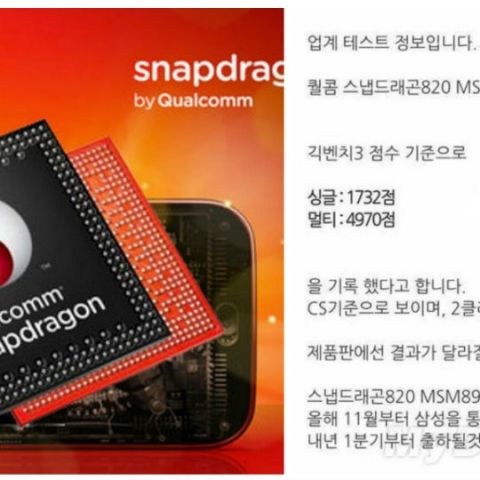 Qualcomm Snapdragon 820 gets benchmarked in Geekbench