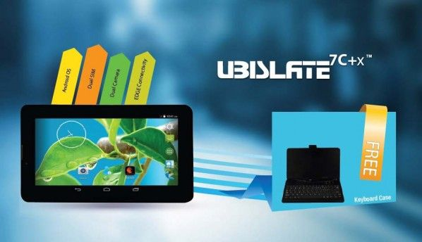 Datawind UbiSlate 7C+x tablet launched with one year free internet