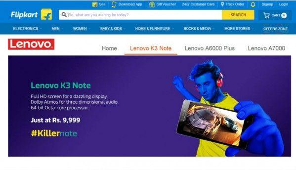 Lenovo K3 Note to go on sale on Flipkart today