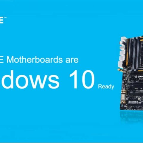 Gigabyte lists Windows 10 ready motherboards