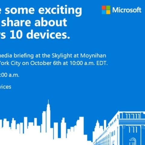 Microsoft Surface Pro 4 and Windows 10 phones expected at Oct 6 event