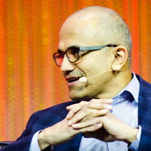 Microsoft CEO Satya Nadella demos Outlook on iPhone