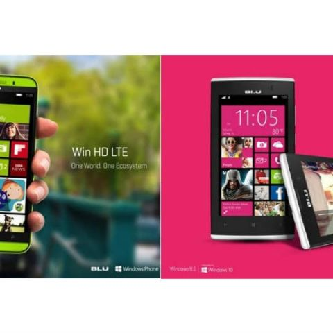 BLU launches two new 4G capable Windows phones in India