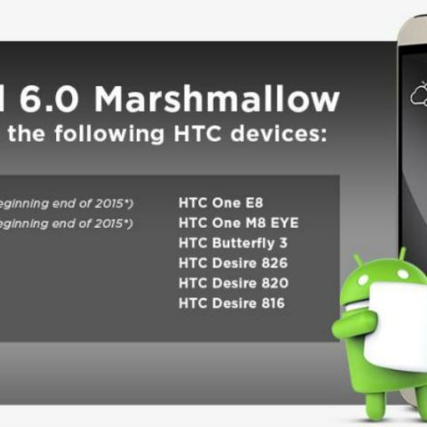 HTC lists devices to receive Marshmallow update