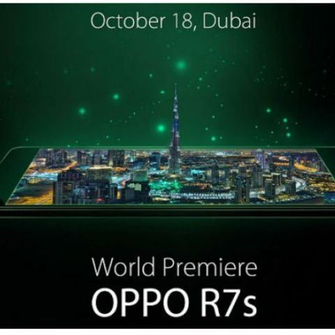 Oppo R7s to launch on October 18