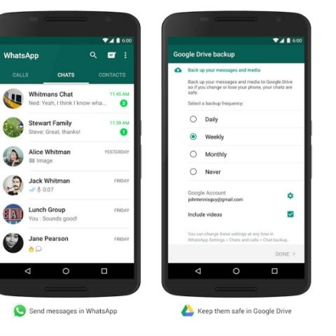 Android users can now backup WhatsApp chats on Google Drive