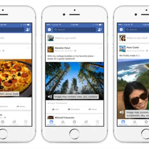 Facebook's new AI will describe photos to the visually impaired