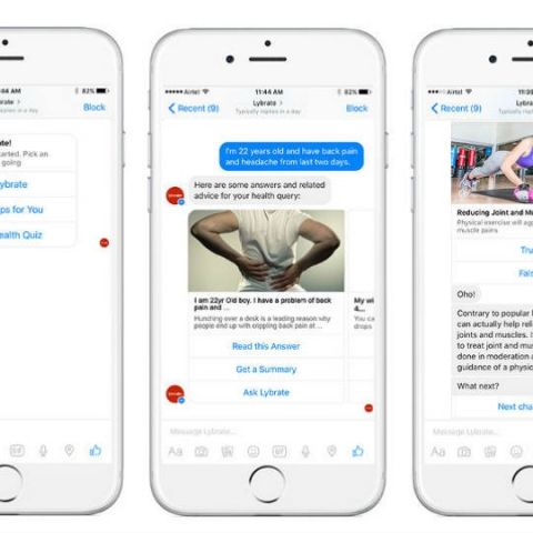 Lybrate's chatbot on Messenger will answer your health-based queries