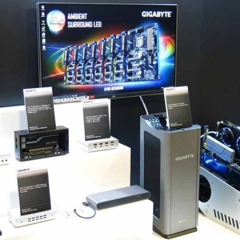 GIGABYTE showcases new ultra gaming motherboards and BRIX at