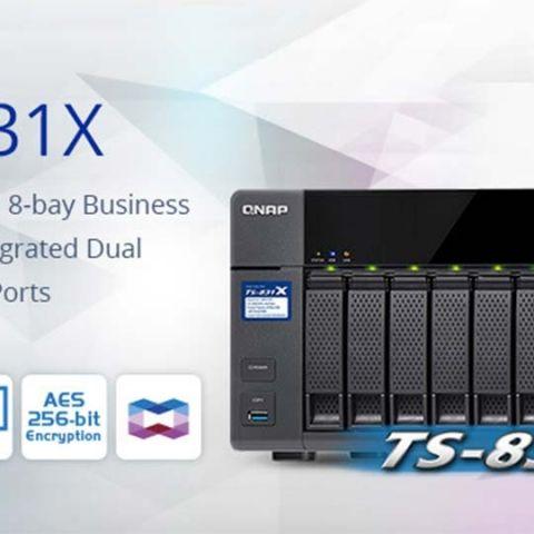 QNAP introduces TS-831X 8 bay business NAS at Computex 2016