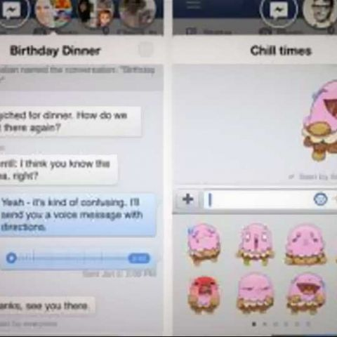 Facebook for iOS updated with chat heads, stickers and improved news feed