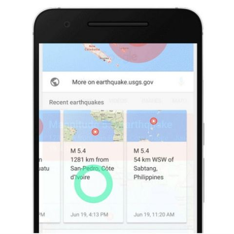 Google will now provide live earthquake summaries in search