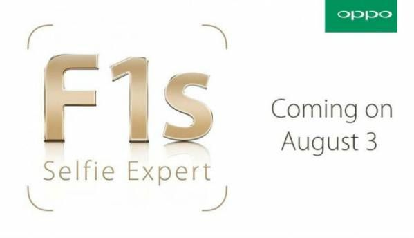 Oppo to announce 'selfie expert' F1S smartphone on August 3