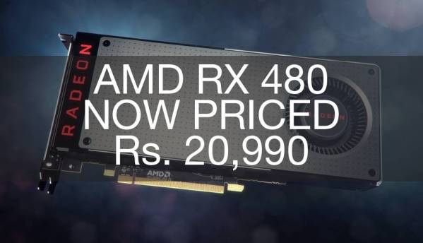 AMD RX 480 price dropped further down to Rs.20,990