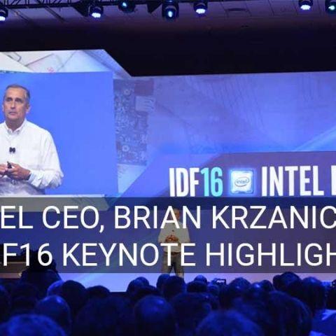 Highlights from Intel CEO, Brian Krzanich's keynote address at 2016 Intel Developer Forum
