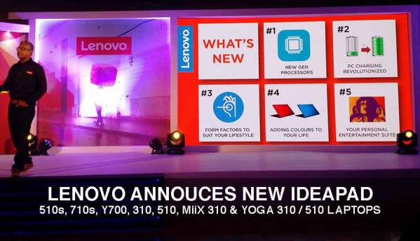 Lenovo announces news products under the Ideapad, Yoga and Miix lineups