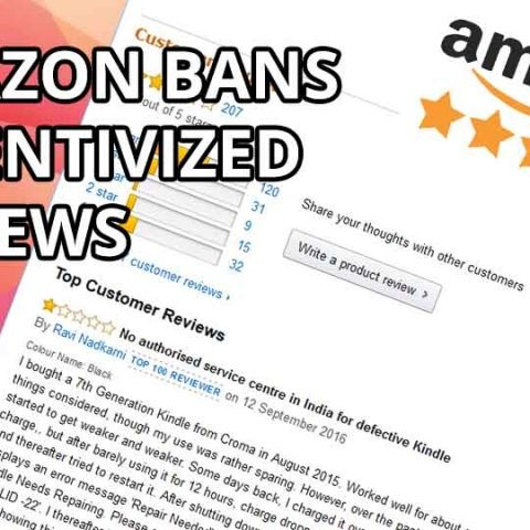 Amazon bans incentivized reviews for free/discounted products