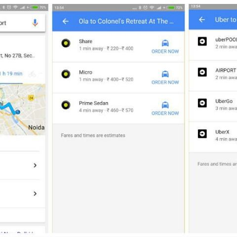 You can now book Ola or Uber cab via Google search