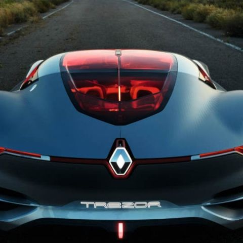 The Renault Trezor concept car is classic art coupled with futuristic technology