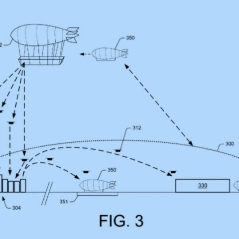 Amazon wants to build flying warehouses that deliver via drones