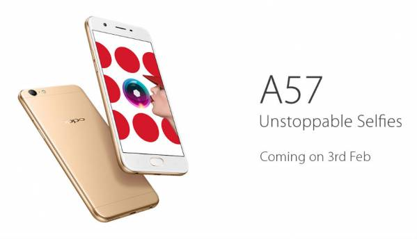 Oppo A57 smartphone with 16MP front camera to launch on February 3