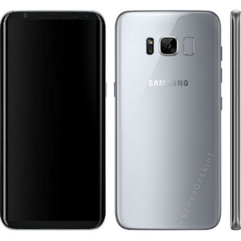 Samsung Galaxy S8 leaked renders show Bixby button and rear