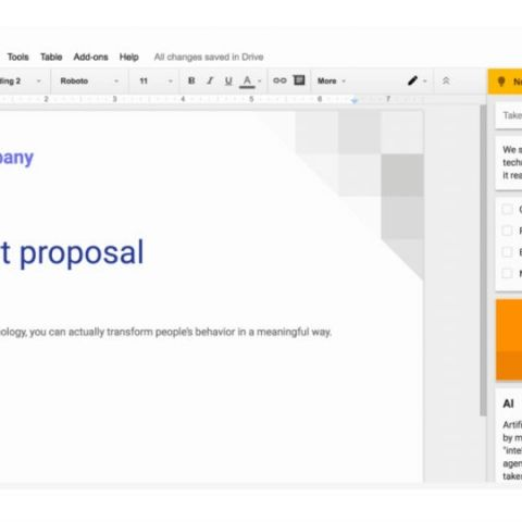 You can now access Google Keep from within Google Docs