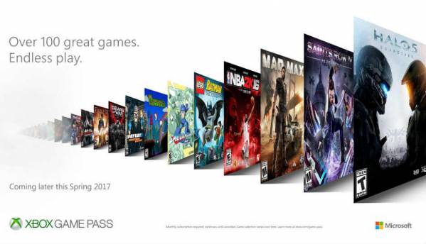 Microsoft's Xbox Game Pass monthly subscription service offers gamers access over 100 titles