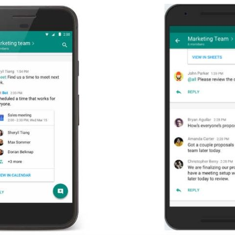 Google splits Hangouts into Chat and Meet to compete with