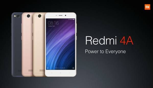 Xiaomi Redmi 4A goes on sale today, will be available in 2GB and 3GB RAM variants