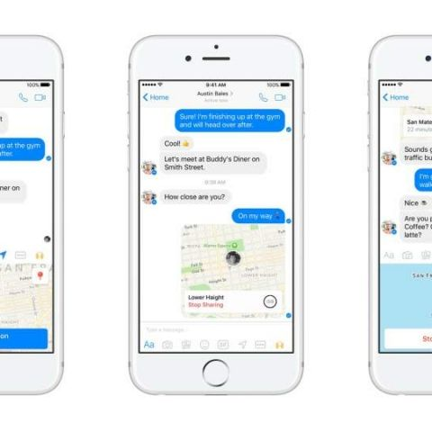 Facebook Messenger adds live location sharing feature