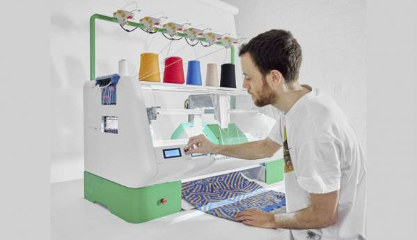 Now stitch and knit your own clothes with this digital knitting machine