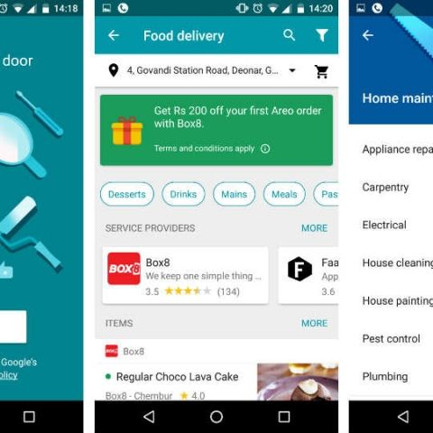 Google Areo app launched in India, offers all-in-one home, food delivery service