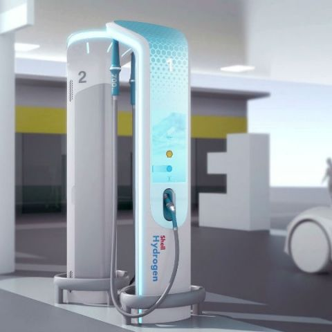BMW Designworks partners with Shell to give a brief glimpse at Hydrogen filling pumps of the future