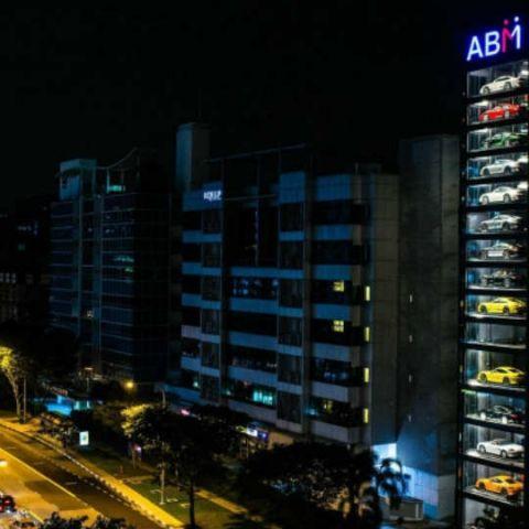 Autobahn Motors' giant 15-floor showroom is a prolific supercar vending machine