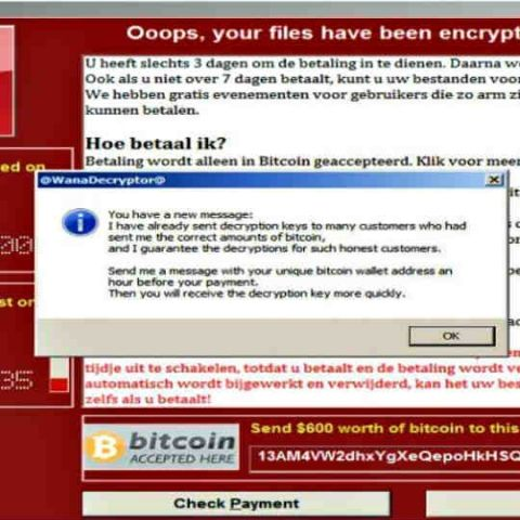 WannaCry attackers are messaging victims encouraging them to pay up