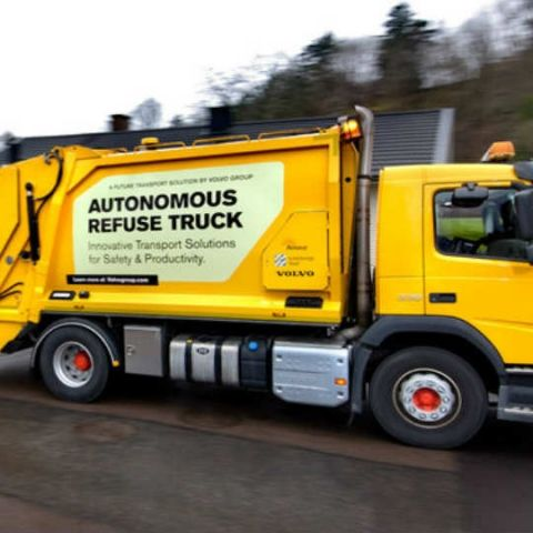Volvo working on self-driving garbage truck to streamline refuse collection