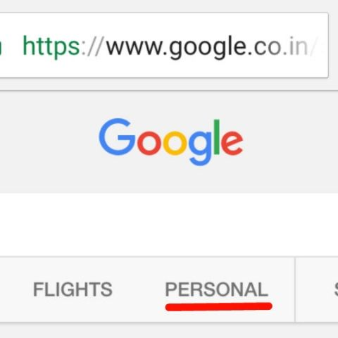 New Personal Tab in Google Search displays user-specific results from Gmail and Photos
