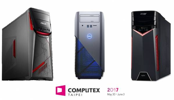 Acer, ASUS, Dell, HP and Lenovo announce AMD Ryzen based systems at COMPUTEX 2017