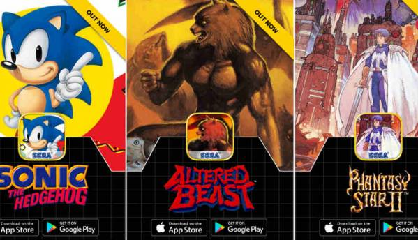 Sega's classic games are now on Android and iOS