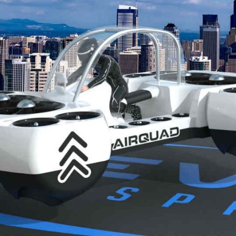 Neva's AirQuadOne is yet another flying car concept studded with practicality