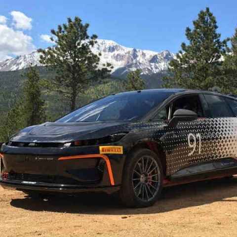 Production-designed Faraday Future FF91 shows its prowess on test track