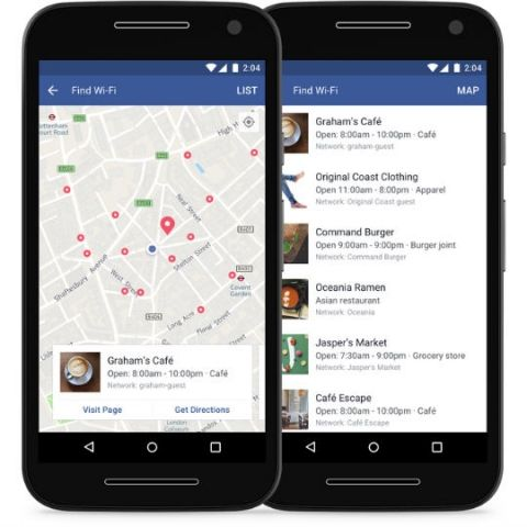 Facebook's Find Wi-Fi feature will help you locate nearby Wi-Fi hotspots