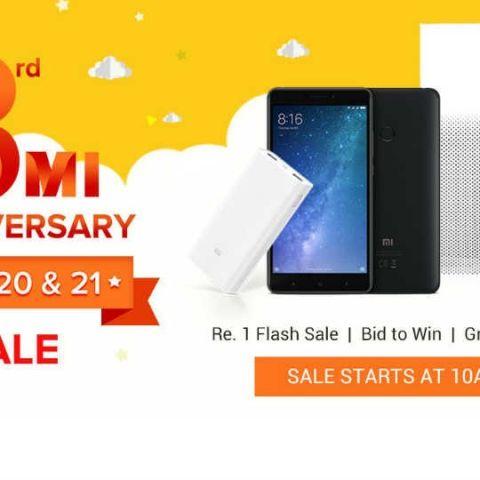 83842839f55 Xiaomi s 3rd Mi Anniversary Sale  Mi Max 2