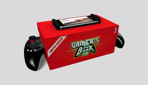 KFC and Mountain Dew have created a meal box that doubles as a game controller!