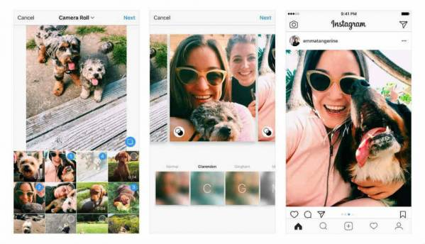Instagram now allows users to post landscape and portrait images in photo albums