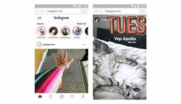 Instagram Stories starts rolling out for mobile web