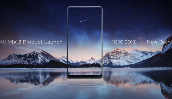 Xiaomi Mi Mix 2 India launch on October 10, features bezel-less design and Snapdragon 835 chipset